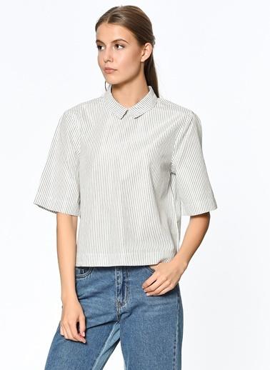 Kısa Kollu Çizgili Gömlek-Only